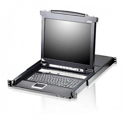 Aten CL5708FM 8-Port Slideaway™ LCD KVM Switch With Fingerprint