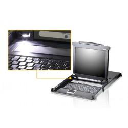 Aten CL5716N 16-Port Slideaway™ 19in. Single Rail LCD KVM