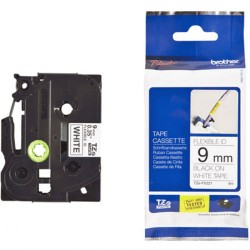 Brother TZE-FX221 Kertas Label 9 mm Flexible Black on White