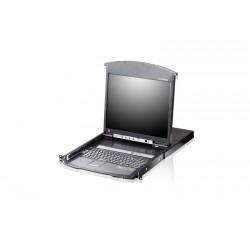 Aten KL1516AiN 16-Port 19 Inch Dual Rail Cat.5 LCD KVM over IP Switch