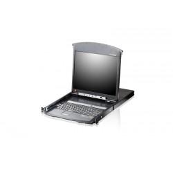 Aten KL1508AN 8-Port Dual Rail 19 Inch Cat. 5 LCD KVM