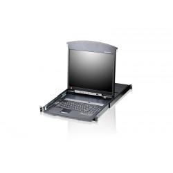Aten KL1516AM 16-Port 17 Inch Cat.5 Dual Rail LCD KVM Switch