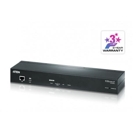 Aten KN1000A 1-Local/Remote Share Access Single Port VGA KVM over IP Switch with Single Outlet Switched PDU (1920 x 1200)