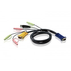 Aten 2L-5301U 1.2M USB KVM Cable with 3 in 1 SPHD and Audio