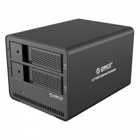 ORICO 9528U3 Aluminum 2 bay 3.5 SATA to USB3.0 External Hard Drive Enclosure