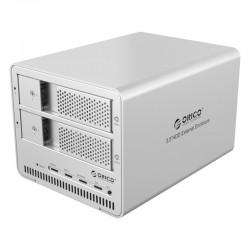 ORICO 9528RU3 Aluminum Dual bay 3.5 inch SATA to USB3.0 RAID External Hard Drive Enclosure