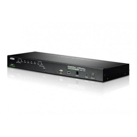 Aten CS1708i 1-Local/Remote Share Access 8-Port PS/2-USB VGA KVM over IP Switch