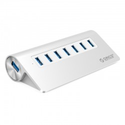 ORICO M3H7 Aluminum 7 Port USB3.0 HUB with 30W Power Adapter