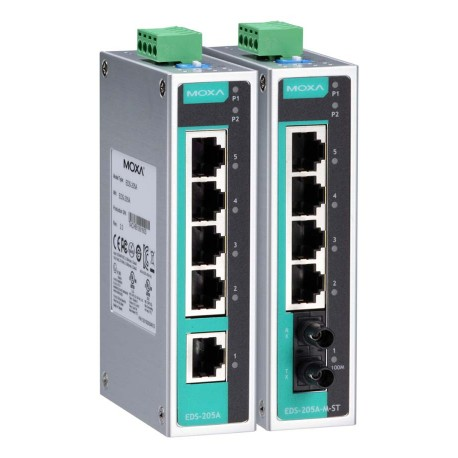 Moxa EDS-G205A-4PoE Industrial Power Over Ethernet Switches