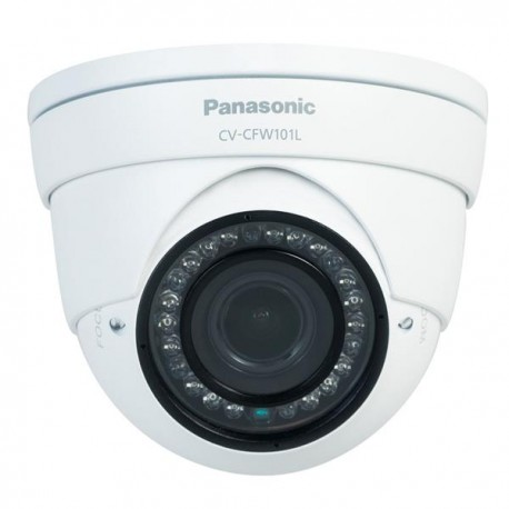 Panasonic CV-CFW101L HD Analog Day/Night Vari-Focal Dome Camera with IR illuminator