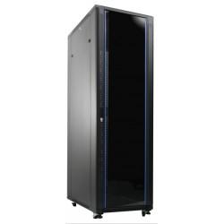 """Indorack 20U Depth 900 mm Standing Close Rack 19"""" Glass Door (IR9020G)"""