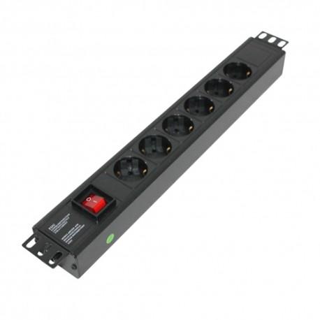 Indorack PDU6G Power Distribution Unit 6 Outlet