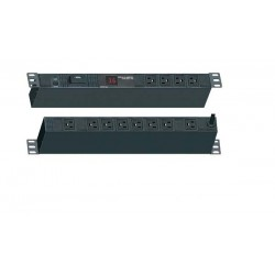 Abba PDU-GPB12-NGB Vertical  PDU 12 outlet 16A w/ Ampere Meter