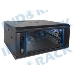 """Indorack WIR4504S 19"""" Wallmount Rack 4U Single Door"""