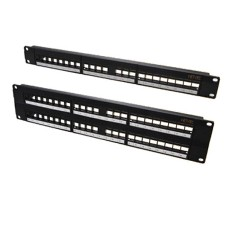 Netviel NVL–OTB-RM-48 Patch Panel 19 inch 2U Fits Up to 48 Ports unloaded