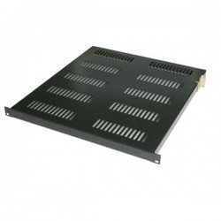 "Abba AR-AFS160-G/B 19"" Adjustable Flat Shelf 600mm 1U for Closed Rack depth 900mm-1150mm"