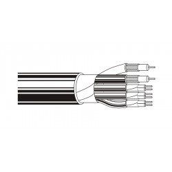 Belden 1263B 2C 25 AWG Coax 3-Pair PVC Black Cable