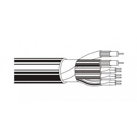 Belden 1263B 2C 25 AWG Coax 3-Pair PVC Black Cable