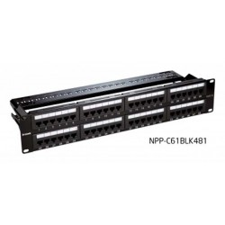D-Link NPP-C61BLK481 Patch Panel CAT6 UTP Keystone 48 Port Fully Loaded