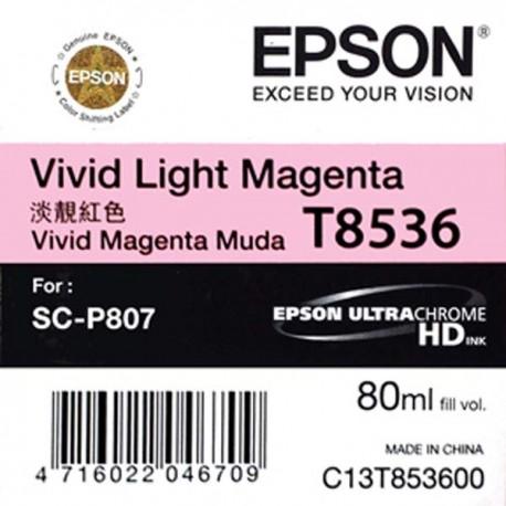 Epson SC-P807 T8536 Vivid Light Magenta Ink Cartridge 80ml