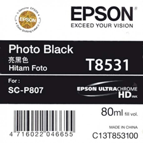 Epson SC-P807 T8531 Photo Black Cartridge (80ml)