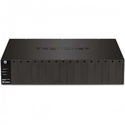 TRENDnet TFC-1600 16-Bay Fiber Converter Chassis System SNMP Management Module