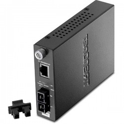 TRENDnet TFC-110S15 Intelligent 10/100Base-TX to 100Base-FX Single Mode SC Fiber Converter