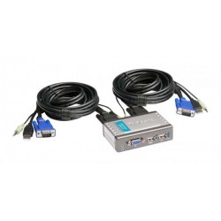 D-Link KVM-221 2-Port USB KVM Switch with Audio Support