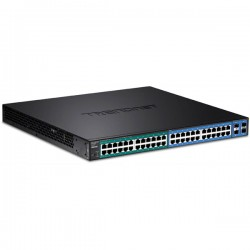 Trendnet TL2-PG484 48-Port Gigabit PoE+ Managed Layer 2 Switch with 4 shared SFP slots