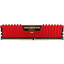 Corsair Vengeance LPX 4 GB (1x4GB) DDR4 2400 MHz C14 XMP 2.0 High Performance Desktop Memory Red (CMK4GX4M1A2400C14R)