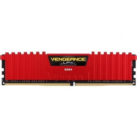 Corsair Vengeance LPX 4 GB (1x4GB) DDR4 2400 MHz C14 XMP 2.0 High Performance Desktop Memory Red (CMK4GX4M1A2400C14R)