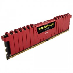 Corsair Vengeance LPX 8GB (1x8GB) DDR4 DRAM 2400MHz C14 Memory Kit Red (CMK8GX4M1A2400C14R)