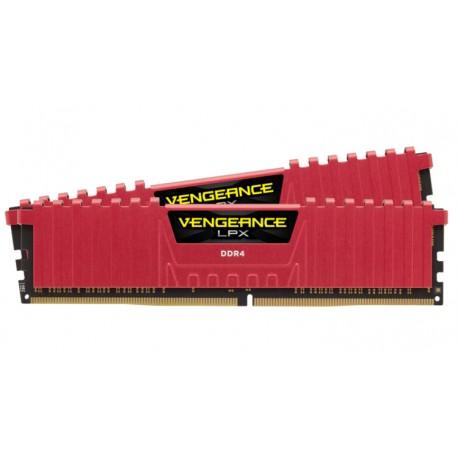 Corsair Vengeance LPX 16GB (2x8GB) DDR4 DRAM 2666MHz (PC4-21300) C16 Memory Kit Red (CMK16GX4M2A2666C16R)
