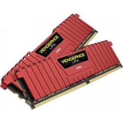 Corsair Vengeance LPX 16GB (2x8GB) DDR4 DRAM 3000mhz C15 Memory Kit - Red (CMK16GX4M2B3000C15R)