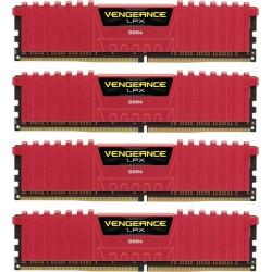 Corsair Vengeance LPX 32GB (4x8GB) DDR4 3866MHz C18 XMP 2.0 Memory Kit Red (CMK32GX4M4B3866C18R)