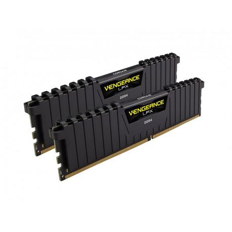 Corsair Vengeance LPX 16GB (2x8GB) DDR4 2666MHz C16 XMP 2.0 Memory Kit for AMD Ryzen Black (CMK16GX4M2Z2666C16)