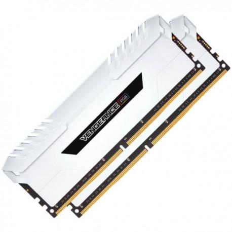 Corsair Vengeance RGB 16GB (2x8GB) DDR4 3200 (PC4-25600) C16 Memory White (CMR16GX4M2C3200C16W)