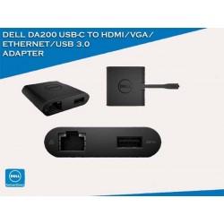 Dell DA200 Universal Dongle Type C To HDMI VGA Ethernet