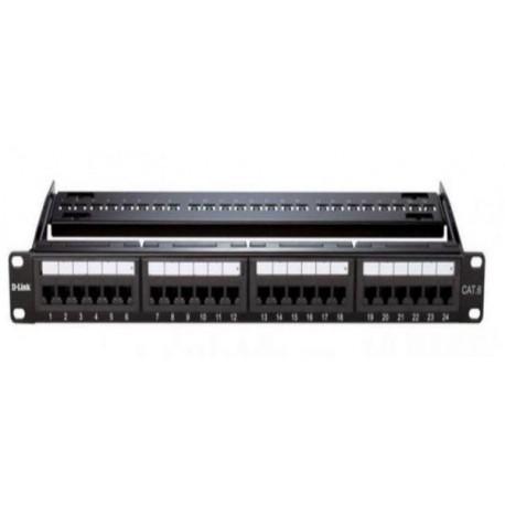 D-Link NPP-C61BLK241 24 Port Cat6 UTP Fully -Black Color