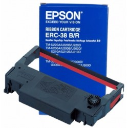 Epson ERC-38BR Black Red Ribbon Cartridge