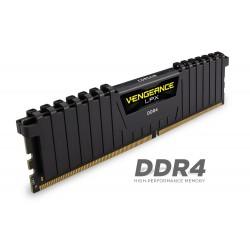 Corsair DDR4 Vengeance LPX 16GB (1x16GB)  DRAM 2400MHz C16 Memory Kit - Black (CMK16GX4M1A2400C16)