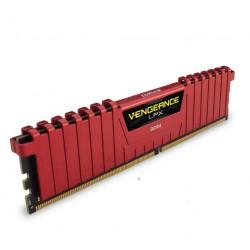 Corsair  DDR4 Vengeance LPX 8GB (2x4GB) Dram 2666MHz C16 Memory Kit - Red (CMK8GX4M2A2666C16R)