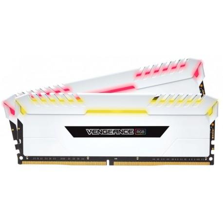 Corsair Vengeance RGB 16GB (2 x 8GB) DDR4 Dram 3000MHz C15 Memory Kit — White (CMR16GX4M2C3000C15W)
