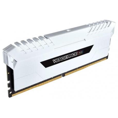 Corsair DDR4 Vengeance RGB 16GB (2 x 8GB) Dram 3200MHz C16 Memory Kit-White (CMR16GX4M2C3200C16W)