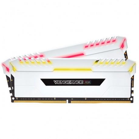 Corsair Vengeance RGB 32GB (2 x 16GB) DDR4 Dram 3200MHz C16 Memory Kit- White (CMR32GX4M2C3200C16W)