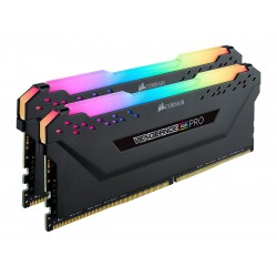 Corsair Vengeance RGB PRO 16GB (2 x 8GB) DDR4 Dram 2666MHz C16 Memory Kit-Black (CMW16GX4M2A2666C16)