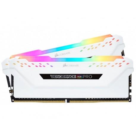 Corsair Vengeance RGB PRO 16GB (2 x 8GB) DDR4 Dram 2666MHz C16 Memory Kit-White (CMW16GX4M2A2666C16W)