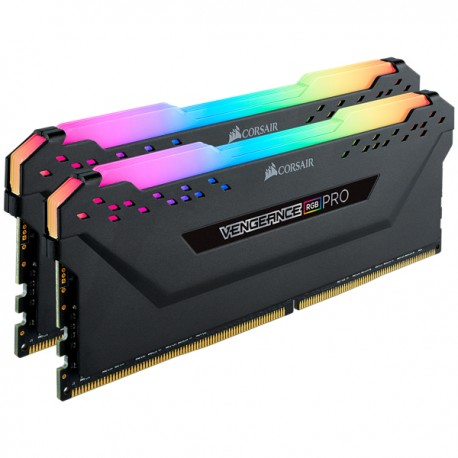 Corsair Vengeance RGB PRO 16GB (2 x 8GB) DDR4 Dram 3000MHz C15 Memory Kit-Black (CMW16GX4M2C3000C15)