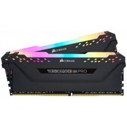 Corsair Vengeance RGB PRO 16GB (2 x 8GB) DDR4 Dram 3200MHz C16 Memory Kit-Black (CMW16GX4M2C3200C16)