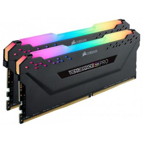 Corsair Vengeance RGB PRO 16GB (2 x 8GB) DDR4 Dram 3600MHz C18 Memory Kit-Black (CMW16GX4M2C3600C18)
